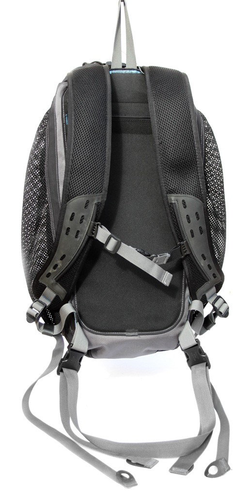 Back of pack with waist and chest straps
