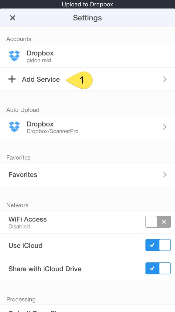 Configure Dropbox for automatic upload