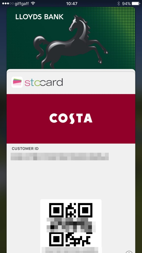 Choose credit card or loyalty card