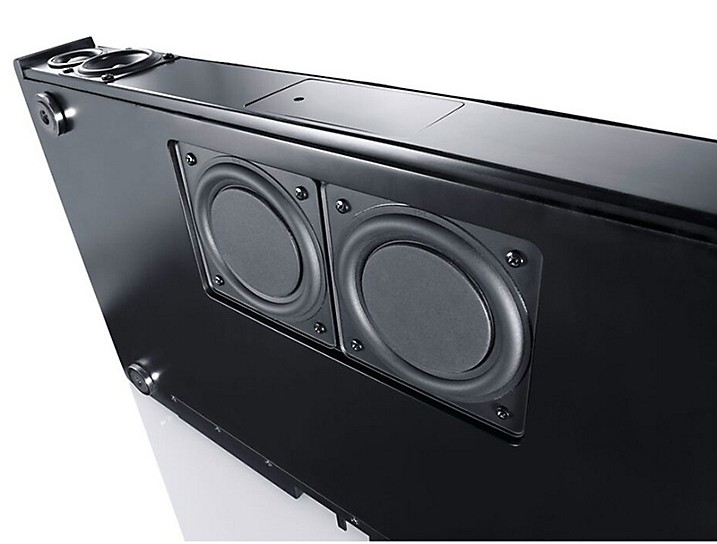 Two woofers on the bottom of DM55