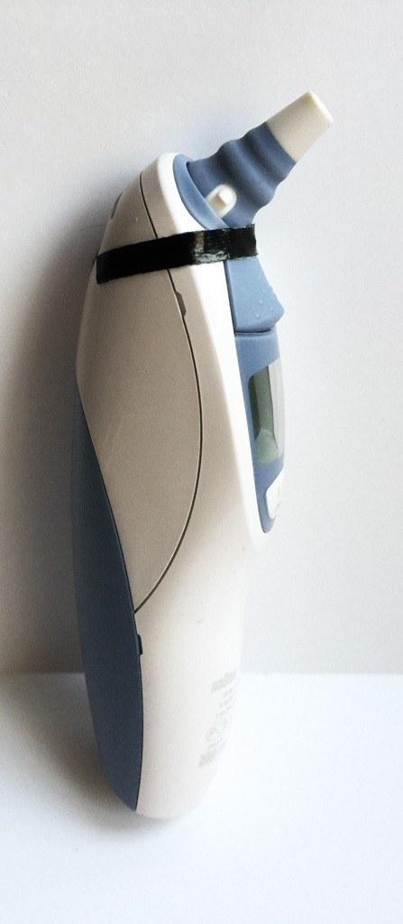 Braun ear thermometer repair with Gorilla tape