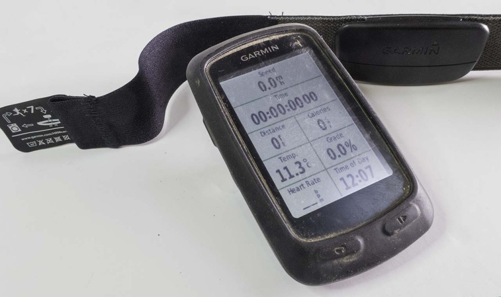 Garmin Edge 810 with heart rate chest strap