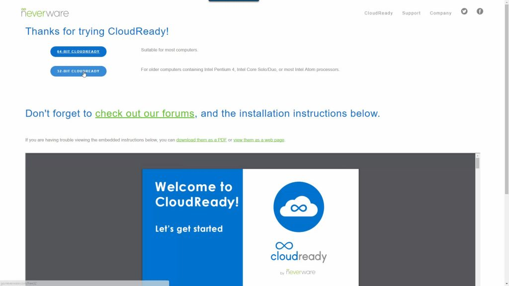 Download CloudReady
