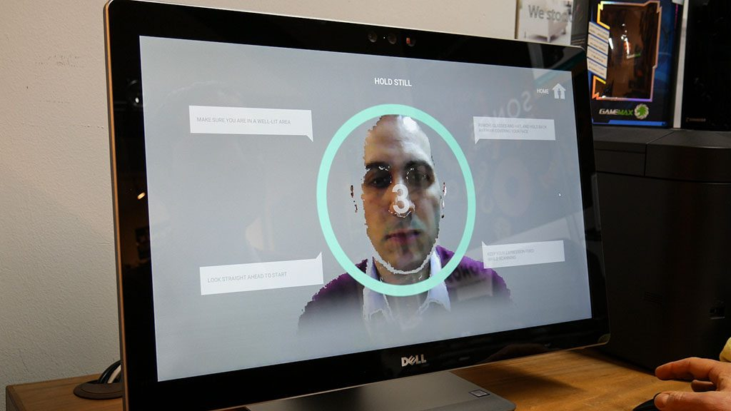 Using the 3D webcam to create a 3D scan of my face