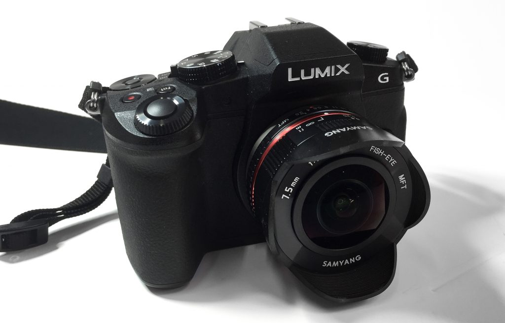 Panasonic G80 with Samyung 7.5mm Fisheye Lens