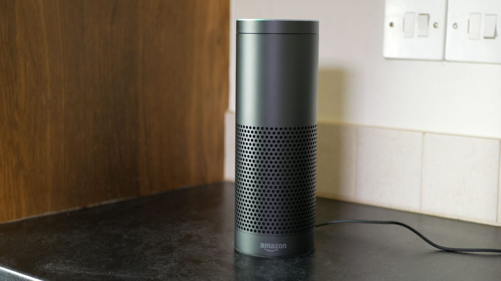 """Dropping in"" to the kitchen. An additonal Amazon Echo being used as a handsfree intercom"