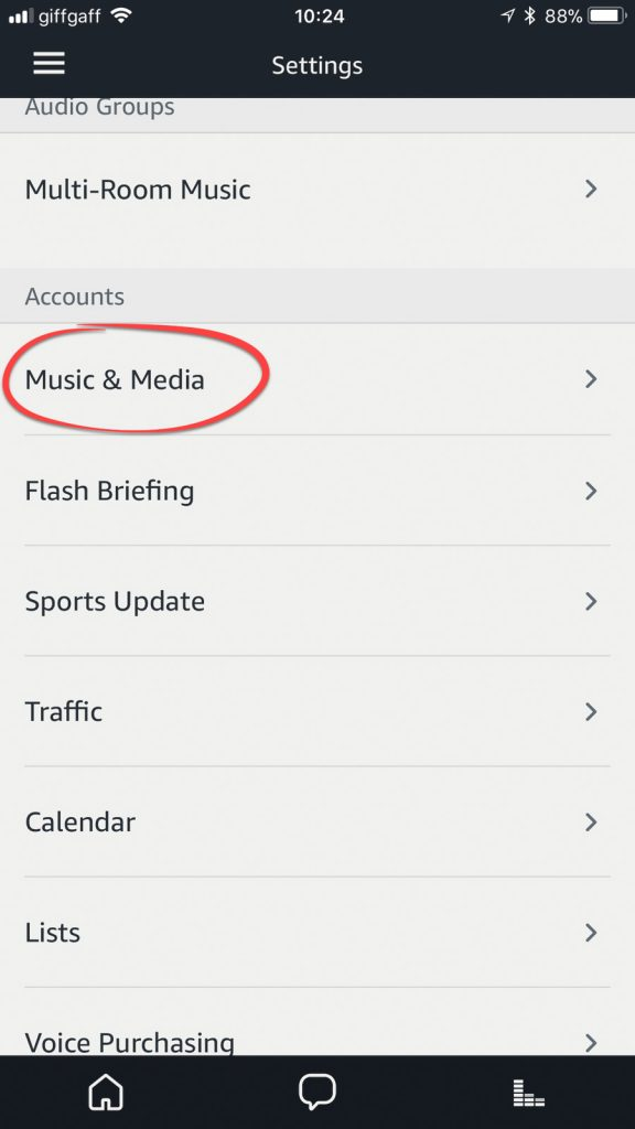 Adding music services