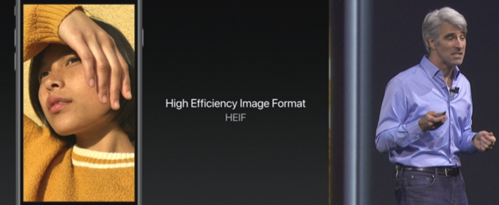 HEVC and HEIF video and photo formats introduced in iOS 11 (https://www.apple.com/apple-events/june-2017/)