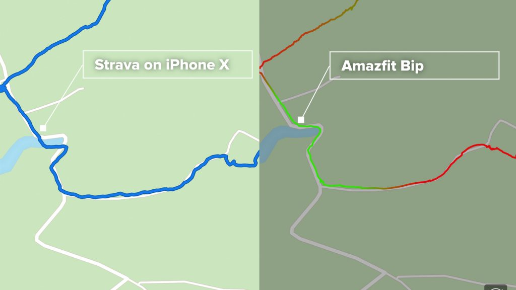 GPS tracking compares well with iPhone and Strava