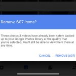"Google Photos ""Free up space"" feature"