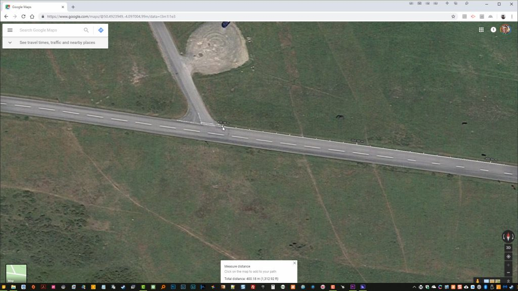 "Checking Stryd accuracy using Google Map's ""measure distance"""