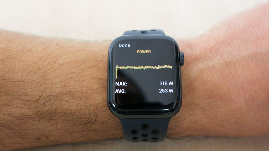 Viewing mini-graphs of run on watch itself