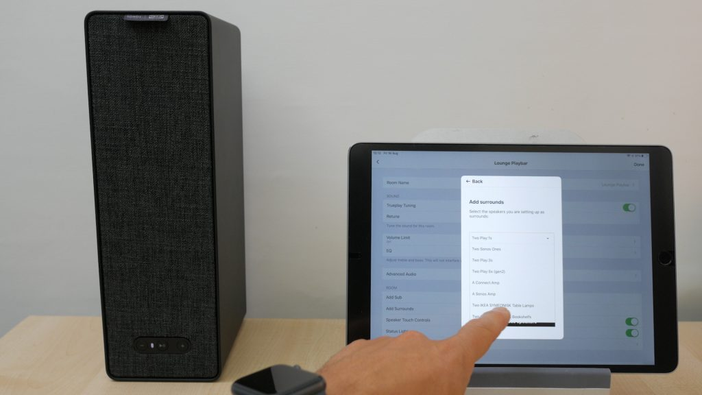 remove speaker from sonos account