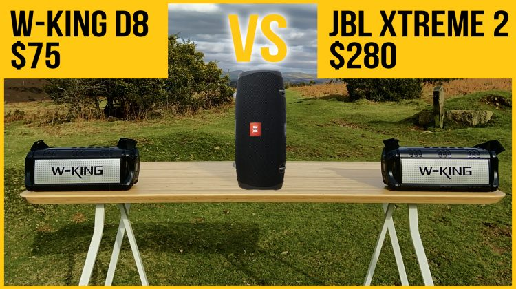 W-King D8 Bluetooth speaker review vs JBL Xtreme 2 & LG PK7. How does it sound for $200 less?