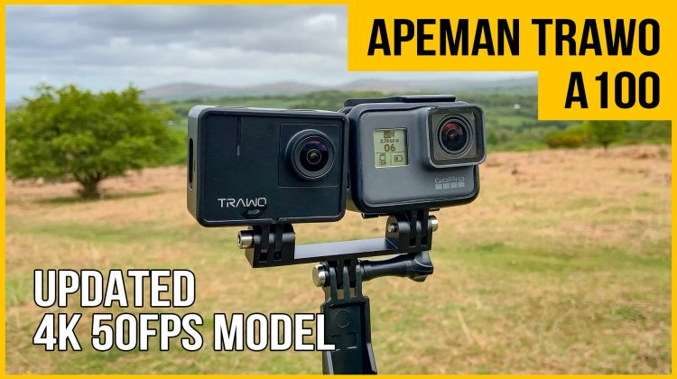 Apeman Trawo A100 action camera review | 4K 50 fps | vs GoPro