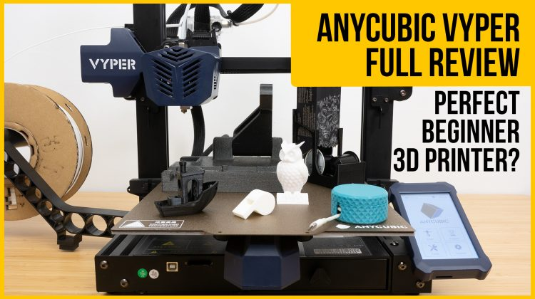 Anycubic Vyper review | Perfect beginner 3D printer? | Unboxing, setup, auto-levelling, test prints